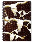 Longhorn Art - Cattle Call - Bull Cow Spiral Notebook