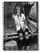 Longneck Beauty Bw Spiral Notebook