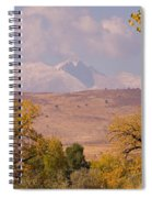 Longs Peak Diamond Autumn Shadow Spiral Notebook
