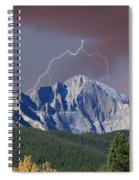 Longs Peak Lightning Storm Fine Art Photography Print Spiral Notebook