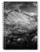 Longs Peak Rocky Mountain National Park Black And White Spiral Notebook