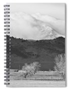 Longs Peak Snow Storm Bw Spiral Notebook