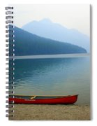 Lonly Canoe Spiral Notebook