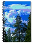 Look Into The Future Spiral Notebook