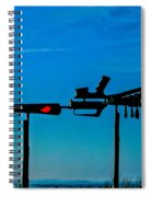 Look Up To The Sky For Rescue Spiral Notebook