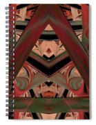 Look Within - Abstract Spiral Notebook