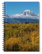 Looking Across Willow Flats To Mt Moran Spiral Notebook