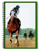 Looking Back, 1 1/2 Mile Belmont Stakes Secretariat 06/09/73 Time 2 24 - Painting Spiral Notebook