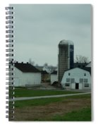 Looking Down An Amish Lane Spiral Notebook