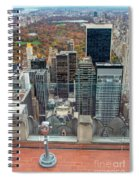Looking Down At New York Central Park Surounded By Buildings Spiral Notebook