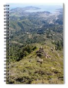 Looking Down From The Top Of Mount Tamalpais 2 Spiral Notebook