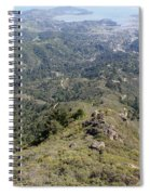 Looking Down From The Top Of Mount Tamalpais Spiral Notebook