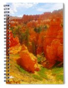 Looking Down In Bryce Spiral Notebook