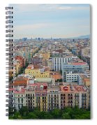 Looking Down On Barcelona From The Sagrada Familia Spiral Notebook