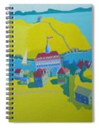 Looking Down On Monhegan And Manana Islands Spiral Notebook