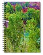 Looking Down On Navajo Falls And Havasu Creek Spiral Notebook