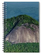 Looking Glass Rock Mountain In North Carolina Spiral Notebook