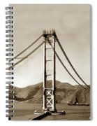 Looking North At The Golden Gate Bridge Under Construction With No Deck Yet 1936 Spiral Notebook