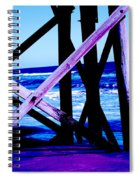 Looking On - Blue Spiral Notebook