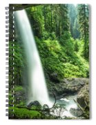 Looking Out From Under North Falls Spiral Notebook