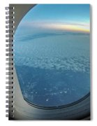 Looking Out Of Airplane Window During Flight Spiral Notebook
