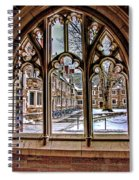 Looking Through An Arched Window At Princeton University At The Courtyard Spiral Notebook