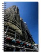 Looking Up At Chicago's Marina Towers Spiral Notebook