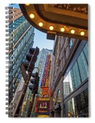 Looking Up At The Boston Paramount Boston Ma Spiral Notebook