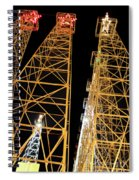 Looking Up At The Kilgore Lighted Derricks Spiral Notebook
