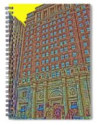 Looking Up In Love Park Spiral Notebook