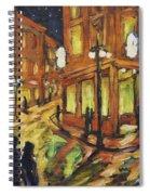 Looking Up Main Street Spiral Notebook