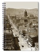 Looking Up Market Street From The Call Building With City Hall Circa 1900 Spiral Notebook