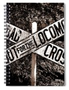 Lookout For The Locomotive Spiral Notebook