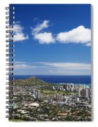 Lookout View Of Honolulu Spiral Notebook