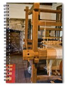 Loom And Fireplace In Settlers Cabin Spiral Notebook