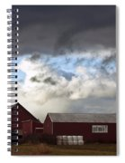 Looming Storm In Sumas Washington Spiral Notebook