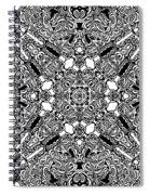 Loops Black And White No. 1 Spiral Notebook