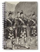Lord Archibald Campbell And His Pipers Marching Through The Pass Of Glencoe Spiral Notebook
