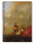 Lord Howe And The Comte Destaing Off Rhode Island Spiral Notebook