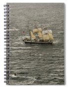 Lord Nelson Enters Sydney Harbour Spiral Notebook