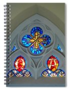 Loretto Chapel Stained Glass Spiral Notebook