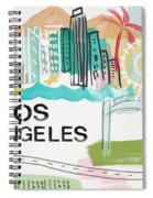Los Angeles Cityscape- Art By Linda Woods Spiral Notebook