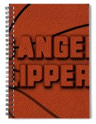 Los Angeles Clippers Leather Art Spiral Notebook