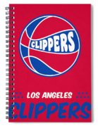 Los Angeles Clippers Vintage Basketball Art Spiral Notebook
