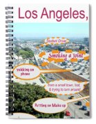 Los Angeles Highway To Heaven Spiral Notebook