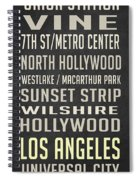 Los Angeles Vintage Places Poster Spiral Notebook