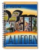 Los Angeles Vintage Travel Postcard Restored Spiral Notebook