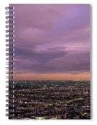 Los Angels Sunset Spiral Notebook