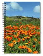 Los Olivos Poppies Spiral Notebook