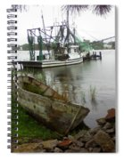 Lost Boat Spiral Notebook